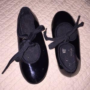 Black tap shoes size 7.5